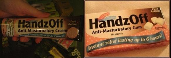 HandzOff Anti-Masturbatory Cream & Gum