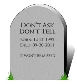 The death of Don't Ask Don't Tell (DADT)