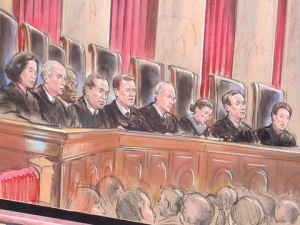 USSC Justices hearing cases