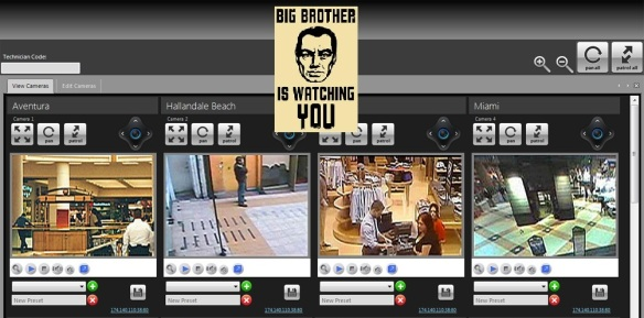 Webcam monitoring, recording-Big Brother watching