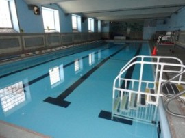 Pool area of old G-Town YMCA