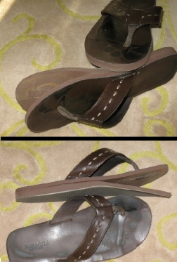 My favorite pair of flip-flops (busted)