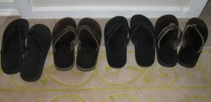 My other pairs of flip-flops