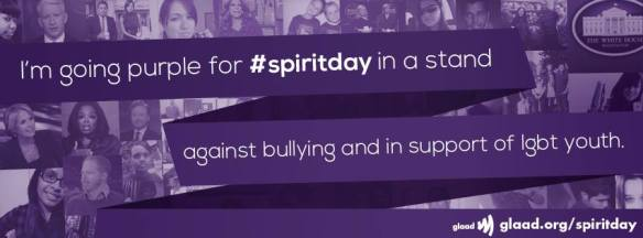 Going Purple against bullying and in support of LGBT youth