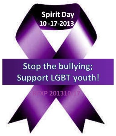Spirit Day -Stop Bullying- 2013 (RFXP create)