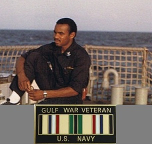 Me out at sea (1980s)-Gulf War Vet