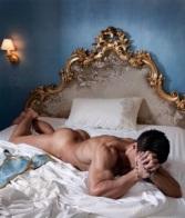 nude man praying
