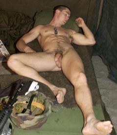 soldier nude sleeping