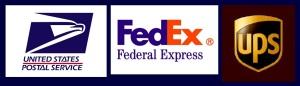 USPS, FedEx, UPS logos