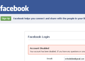 FB Account Disabled
