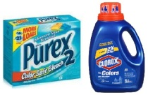 Purex 2 powder, Clorox 2 liquid