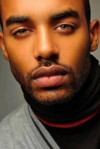 Eyes,close-cut beard, eyebrows