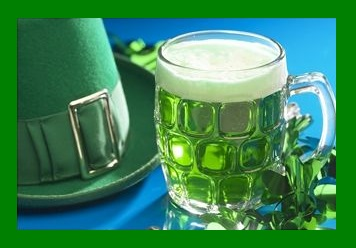 lrish Mug of Green Beer, St Patricks Hat