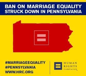 HRC poster - PA same-sex ban