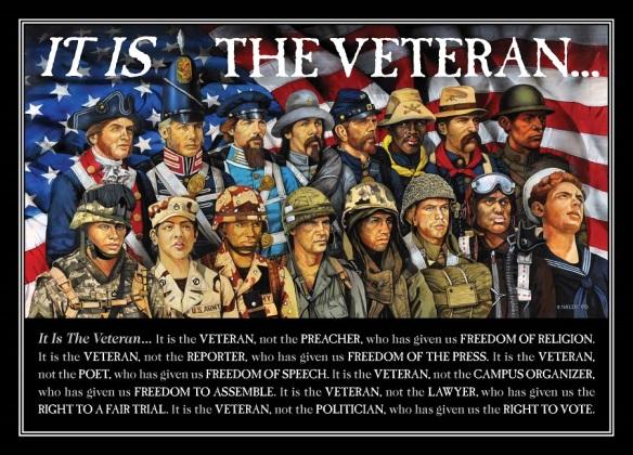 It is the Veteran