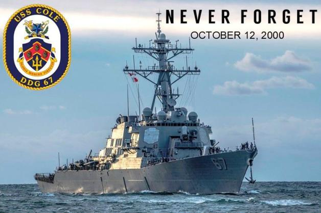 USS COLE (DDG-67) attacked October 12, 2000