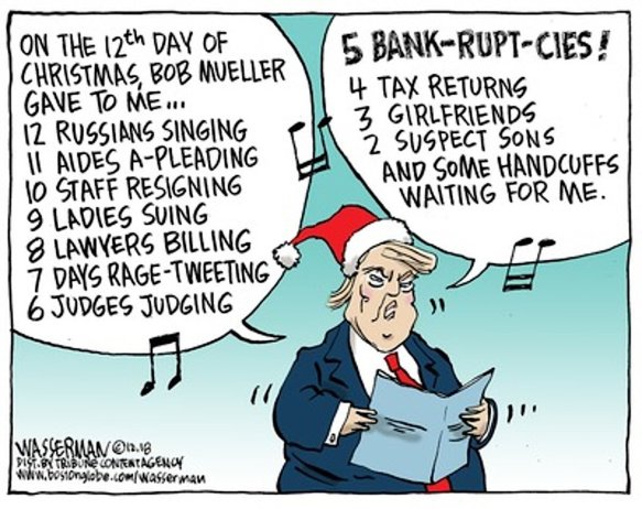 The 12 days of Xmas of DJTrump (2018)