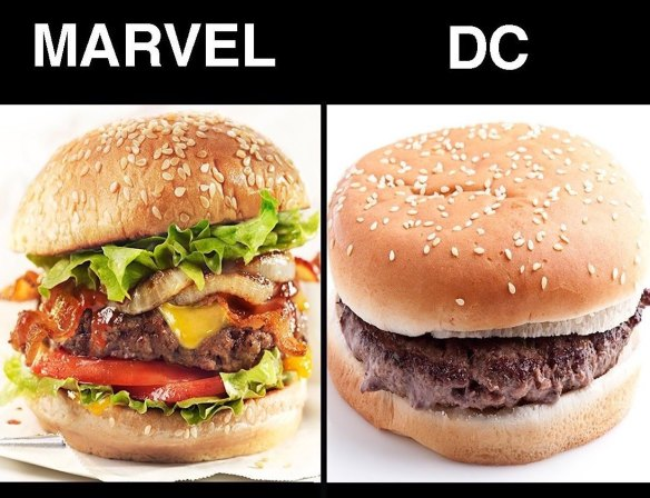 MEME_Marvel, DC by comparison